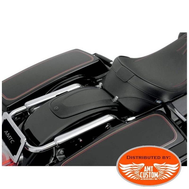 Touring Plastron garde boue cuir pour Harley Electra, Road King, Street, Breakout, CVO ...