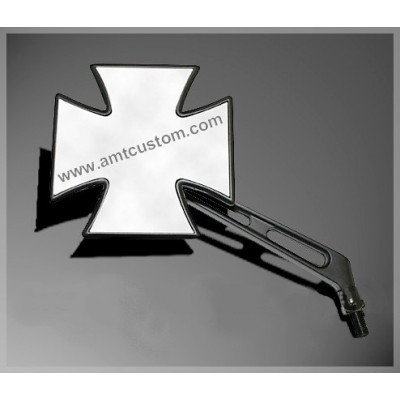 Universal Black Iron Cross - Maltese Cross Mirrors motorcycles