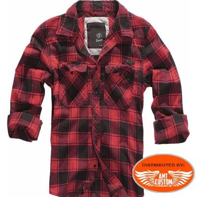 Brandit Shirt Red woodcutter type.