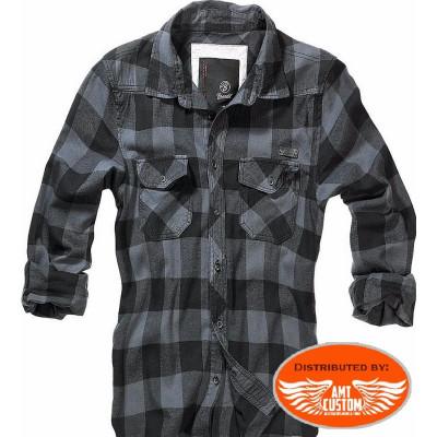 Grey Checkered flannel Brandit shirt