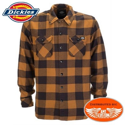 Chemise Dickies type Bûcheron moutarde.