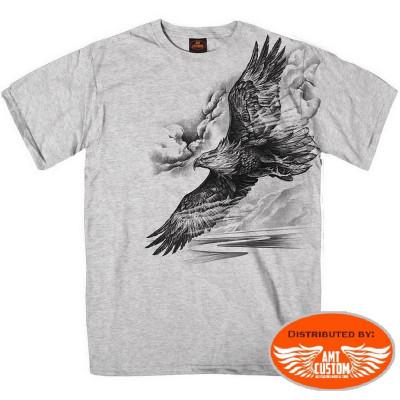 Grey Eagle Spirit Motorcycle biker Tee Shirt