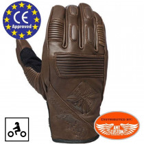 Gants WCC Riding cuir bruns homologués CE
