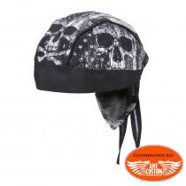 Zandana biker Skull Drapeau USA