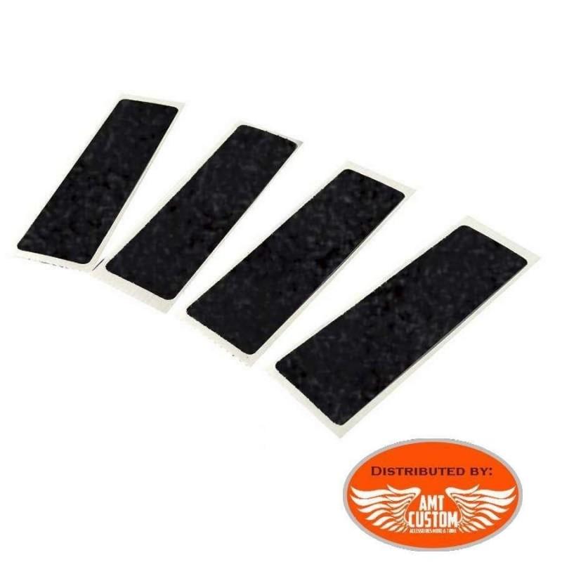 4 Stickers rétro-réfléchissants noirs pour casque moto
