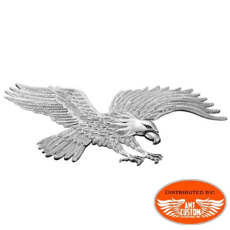 Emblème adhésif Aigle métal moto
