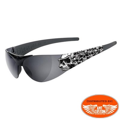 Black Skull sunglasses goggles motorcycles Harley
