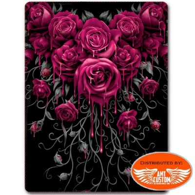 Couverture plaid polaire Blood Roses