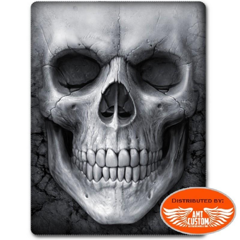 Couverture plaid polaire Skull tête de mort.