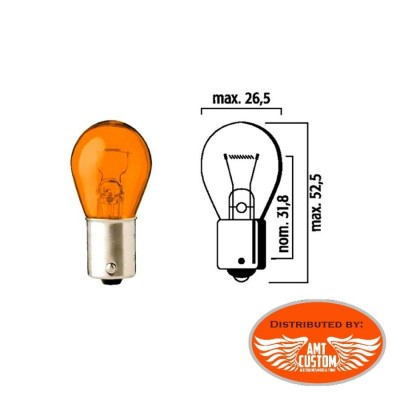 Ampoule clignotant Orange simple filament 12V DC - BA15S