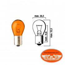 Ampoule clignotant Orange simple filament 12V DC - BA15S