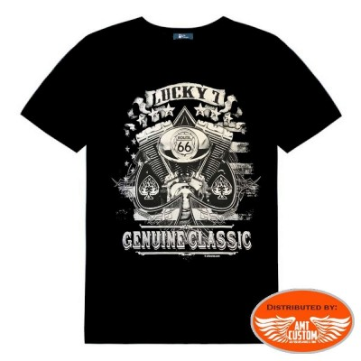 Sipde lucky 7 genuine Biker tee shirt
