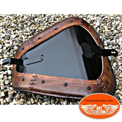 Mounting Sportster Brown leather solo seat for XL883 and XL1200 from 2010 - UP / Bobbers Choppers