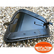 Monting Sportster Black leather solo seat for XL883 and XL1200 from 2010 - UP / Bobbers Choppers
