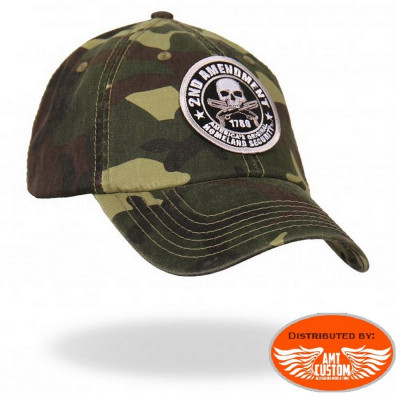 2nd Amendment military biker ball cap