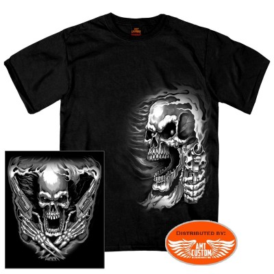 T-shirt Biker Skull tête de mort Assassin.