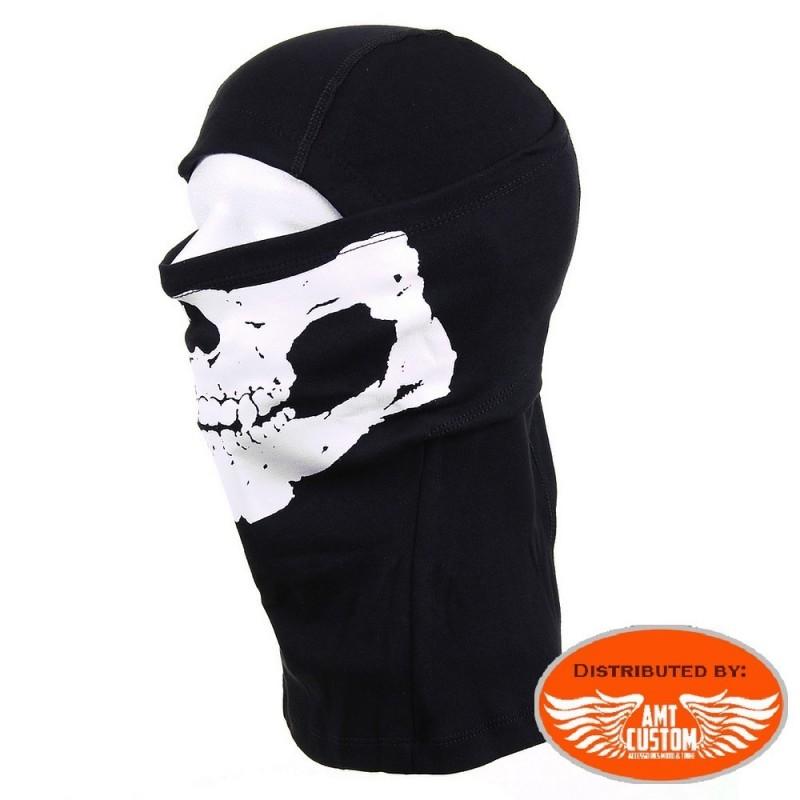 Masque Cagoule moto Tête de Mort Skull.