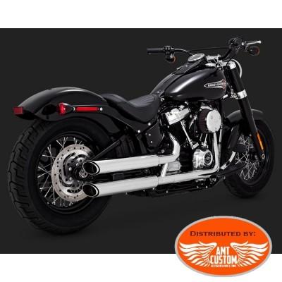 Softail 2018 Echappement Slash Cut Silencieux Chrome Slip-Ons Twin pour Harley Davidson