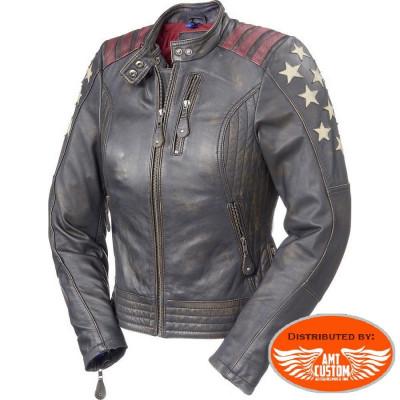 Blouson en cuir Vintage Lady Rider femme - Held Laxy