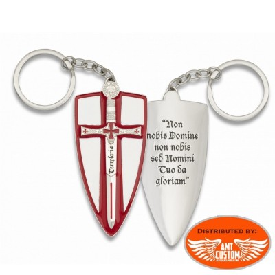 Porte-clés Biker Croix Templier.
