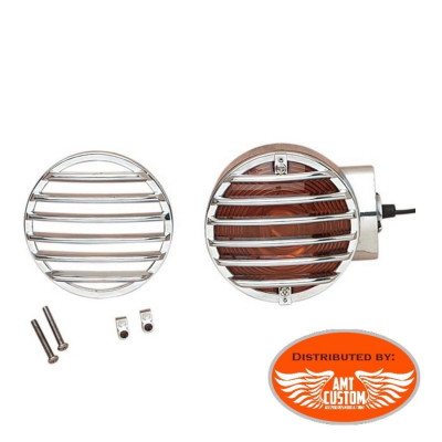 Touring turn signal Lens Grilles Electra Glides, Road Glides, Road Kings, Tour Glides & Heritage