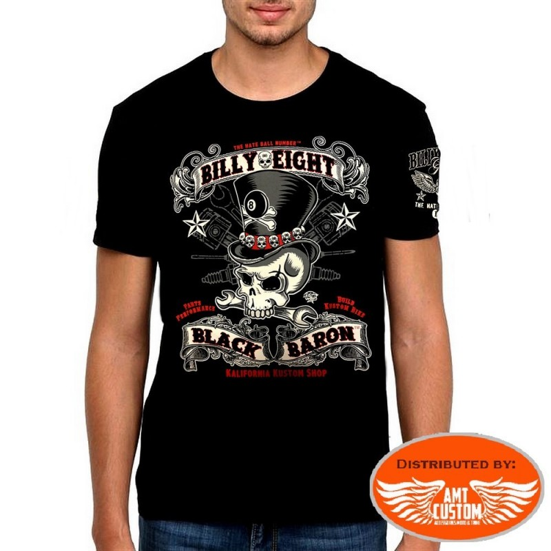 T-Shirt Billy Eight Skull Black Baron.