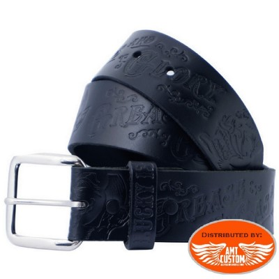 "Ceinture Lucky 13 avec boucles ""Grease Gas and Glory"""