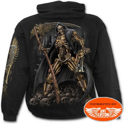 Skull Steampunk Hooded jumper Biker