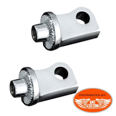 Sportster Splined Peg Adapters Kuryakyn for Harley Davidson XL1200 Forty Eight Seventy Two Custom