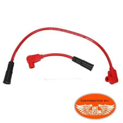 Sportster câbles bougies Rouge pour XL883 XL1200 Harley Davidson