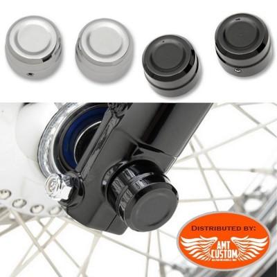 Sportster Cache axe de roue Chrome ou Noir pour Harley Davidson XL883 et XL1200