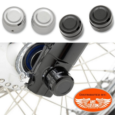 Sportster Covers axle caps Chrome or Black for Harley Davidson XL883 et XL1200