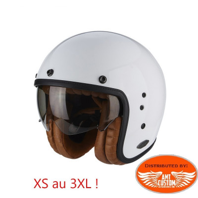 Casque Scorpion Belfast Luxe Blanc - moto custom