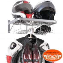 Double vestiaire motard - rangement casques, blousons, gants...
