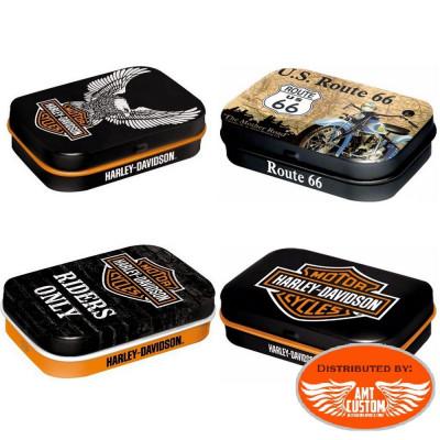 Boite Pilulier Harley Davidson et Route 66