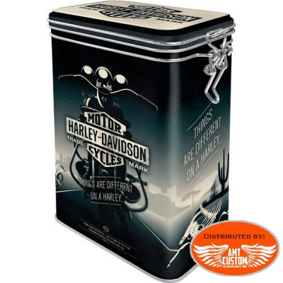 Big Tin box Harley Davidson Dark Night.