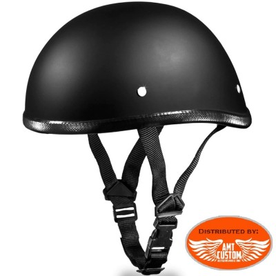Matt black bowl motorcycle biker helmet