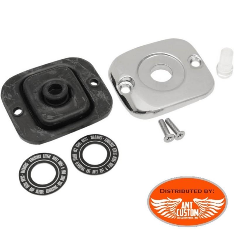 Dyna Cache maitre cylindre Chrome pour Harley Davidson Fat Bob Super Glide Street Bob Switchback