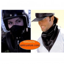 Foulard / Masque cuir Agneau pour Bikers Motards