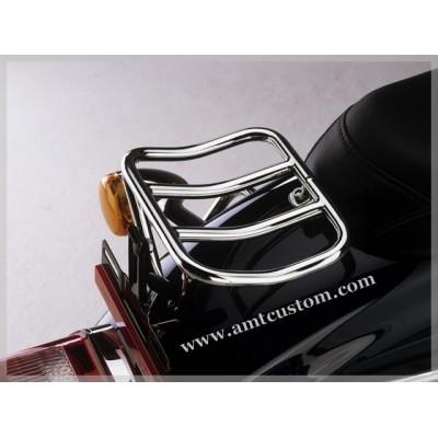 Rack porte-bagage duo Sportster Harley davidson chrome black