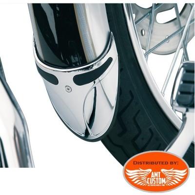 Harley Bavette de garde boue avant chrome pour Harley Sportster Dyna Softail FXST Touring FXR