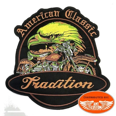 Ecusson Patch American Aigle Moto Tradition