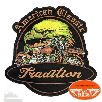 Eagle Motorcycle Tradition patch biker jacket vest