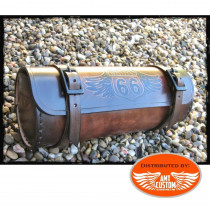Route 66 Leather Tools Bags Brown motorcycles Custom