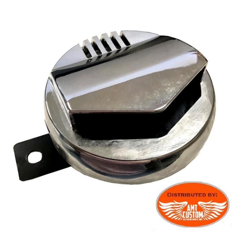 Chrome Disc Horn 95mm Design 12V DC Universal