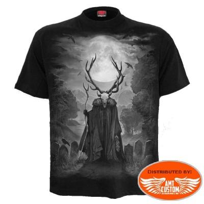 """Tee shirt Biker """"Horned Spirit""""."""