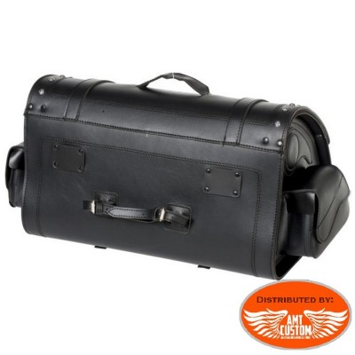 Sacoche à clés sissy bar Flammes 67 Litres Valise Top Case motos et trikes