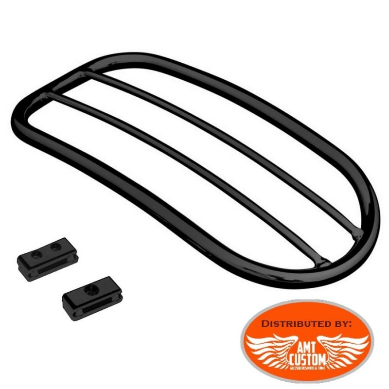 Black Rearrack Chrome for Sportster, Dyna and Softail Harley Bobbers