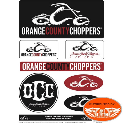 OCC decal set - Orange County Choppers custom motorcycle