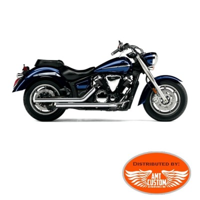 Yamaha XVS1300 Echappements pour Midnight Star V-Star Tourer - Ligne chrome complète Dragsters Cobra